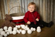 """""""Fun in the Snow"""" by Portrait Creations photography studio in Charlotte, NC."""