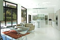 Open Contemporary Living & Family Room by Erinn Valencich on HomePortfolio
