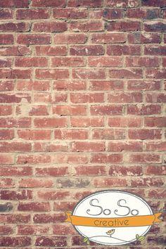 SoSoCreative.com Dreamy Red Brick - Photo Background or Floordrop. $50.