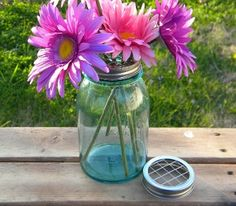 Frog Lids Mason Jar Wedding Vases
