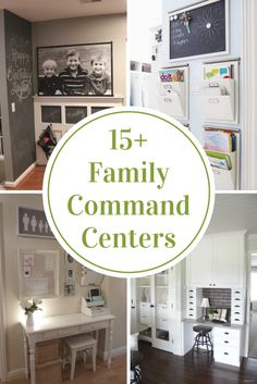With the mass amounts of paper and homework that the kids bring home, a command center is a must to keep your sanity!