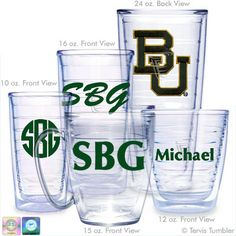 Baylor University Personalized Tervis Tumblers