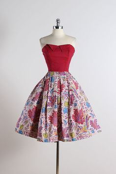 Joy Kingston . vintage 1950s dress . vintage by millstreetvintage