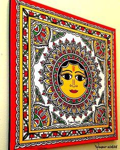 Fabric Canvas Art Diy Tutorials 56 Ideas For 2019 Fabric Canvas Art, Diy Canvas Art, Worli Painting, Fabric Painting, Saree Painting, Pottery Painting, Madhubani Art, Madhubani Painting, Mandala Art Lesson