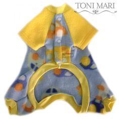 Tonimari Pajama Classic Take Me For A Ride Blue Yellow