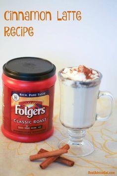So delicious Cinnamon Latte Recipe with #Folgers #ad