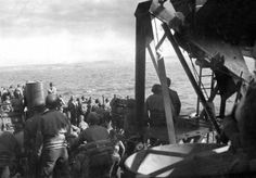 Men of the 29th Infantry Division on their way to the Normandy coast, 6 June 1944 #DDAY