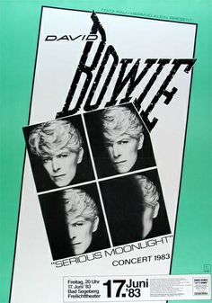 David Bowie Concert Poster https://www.facebook.com/FromTheWaybackMachine