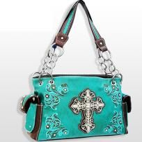 Turquoise Western Style Cross Purse