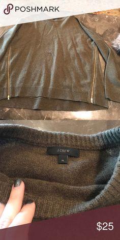 J Crew zip side Sweater J Crew zip side Sweater great condition but slight pilling J. Crew Sweaters Crew & Scoop Necks