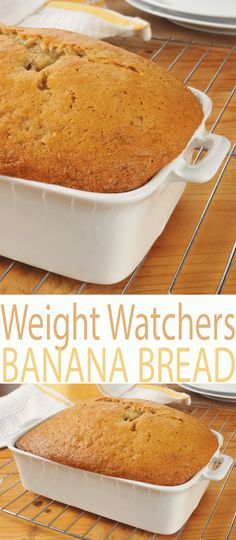 Best Weight Watchers Banana Bread recipe is a fast time-saving sweet bread recipe with healthy ingredients that you can feel good about. At just 3 Smart Points per serving, you can enjoy a slice of Weight Watchers Banana Bread with dinner or as a snack. Weight Watcher Desserts, Weight Watcher Dinners, Weight Watcher Banana Bread, Plats Weight Watchers, Weight Watchers Cupcakes, Weight Watchers Brownies, Weight Watchers Pumpkin, Weight Watchers Diet, Ww Recipes