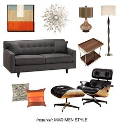 """Get inspired by the """"Mad Men"""" series with a collection of items perfect for a vintage-style living room."""