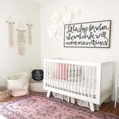 @babyletto on Instagram: fem florals  such a darling space! • #babyletto Hudson crib • : designed by @laurmcbrideblog
