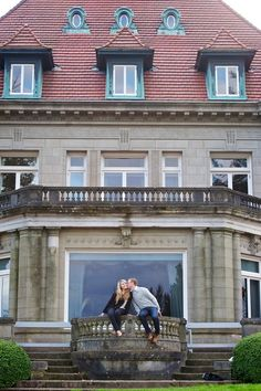 Crystal & Austin Pittock Mansion Engagement Photo By FotoNovella
