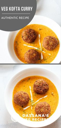 Mix Veg kofta curry recipe with step by step photos – delicious and creamy restaurant style kofta curry made with mix vegetables. It is a rich gravy so best meant for special occasions or for an indulgent weekend lunch or dinner. Easy Vegetarian Curry, Vegetarian Recipes Easy, Curry Recipes, Vegetable Curry, Vegetable Dishes, Vegetable Recipes, Cooking Dishes, What's Cooking, Veg Kofta Recipe