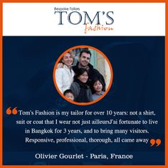 Our Beloved Customers. Tom's Fashion #reviews #suits #customtailors #bangkok #tomsfashion