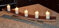 Table top wine barrel stave candle holder by WineyGuys on Etsy, $45.00