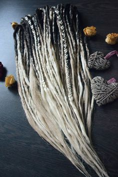 crochet ombre dreadlocks full set x30 by SunjunkDreadlocks on Etsy