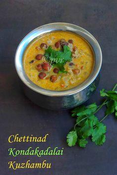 Chettinad Chickpeas Gravy/Chettinad Karuppu Kondakadalai Kuzhambu