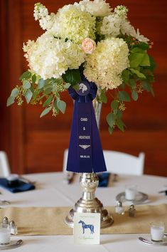 Trophy and Ribbon centerpiece