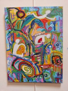 Abstract 18x24 Acrylic painting on canvas by Holly Wilson (SOLD)