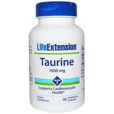 Life Extension, タウリン、1000、植物性カプセル90個入り
