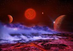 Superfície do planeta Planetas Estrela Espaço 3D_Gráfica