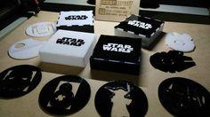 Portavasos de acrilico y caja de StarWars