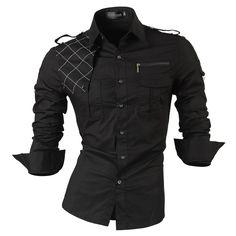 2017 New Fashion Casual slim fit long-sleeved men's dress shirts Korean styles cotton shirt 8371