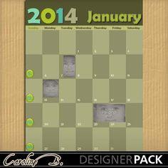 2014 January Brown 11x8-000