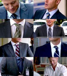 Dean Winchester in suits, Season 8 ~ Supernatural Fan Art