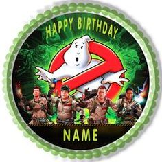 GHOSTBUSTERS Edible Birthday Cake Topper OR Cupcake Topper, Decor
