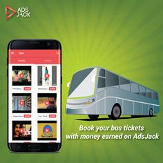 Don't spoil your weekend if you don't have cash. Enjoy booking your bus tickets with money earned on AdsJack.