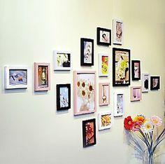 环保材料相框/画框/木创意组合相框 艺术照片墙 相框墙背景框18框