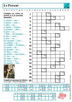 PRÉSENT 2 sur site : http://lecoledepetiteprune.eklablog.com/conjugaison-c612893