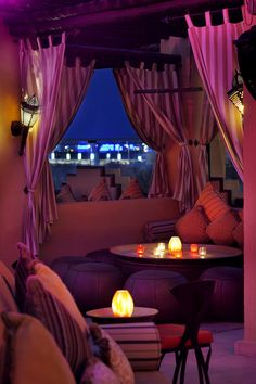 Rooftop lounge at the: One & Only Royal Mirage, Dubai.<3