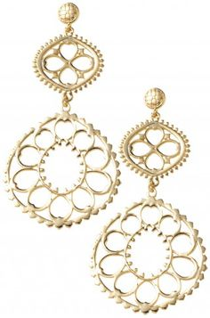 Polo Day Style: Stella & Dot Valentina Chandelier Earrings. #onthebedwithAW