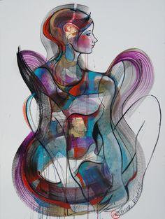 Impressive art from visual artist based in Norway Verena Waddell at http://www.verena.no paintings, etchings, prints.
