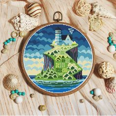 Sea cross stitch pattern Cross stitch design Cross stitch
