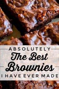 Best Brownie Recipe-you only need ONE bowl to make these fudgy, chewy, gooey, chocolaty brownies with shiny crackly tops! This easy homemade brownie recipe will be your GO TO! A quick and easy dessert -you will never buy a boxed brownie mix again! Beste Brownies, Chewy Brownies, Nutella Brownies, Coconut Flour Brownies, Cake Like Brownies, German Chocolate Brownies, One Bowl Brownies, Box Brownies, Chocolate Fudge Brownies
