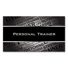 Personal Trainer Unique Business Card Standard Business Cards. This great business card design is available for customization. All text style, colors, sizes can be modified to fit your needs. Just click the image to learn more!