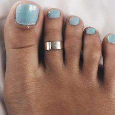 Plain silver cuff toe ring Sterling silver plain door SilverCartel
