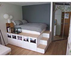 smart space-saving bed hides a walk-in closet underneath | murphy