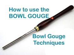 Wood Turning - Beginners Guide # 5 - The Bowl Gouge Woodturning Videos, Woodturning Tools, Lathe Tools, Wood Turning Lathe, Wood Turning Projects, Wood Lathe, Woodworking Store, Learn Woodworking, Woodworking Techniques
