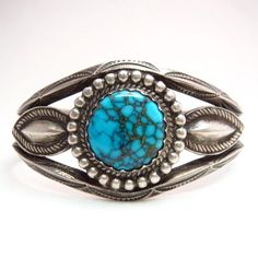 Sterling Silver Ethnic Asian Vintage Style Turquoise Stone Ring Size M 1/2 Gift Fine Jewellery