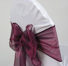 MDS 100 PCS wine Organza Chair Sashes  Bows sash for Wedding or Events Banquet Decor Chair bow sash *** Click image to review more details. (This is an affiliate link and I receive a commission for the sales)