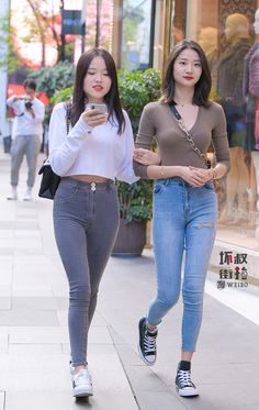 Beautiful Asian Girls, Kpop, Tight Dresses, Beautiful Celebrities, Jean Outfits, Asian Woman, Mom Jeans, Hot Girls, Sexy