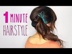 Cute one-minute hairstyle