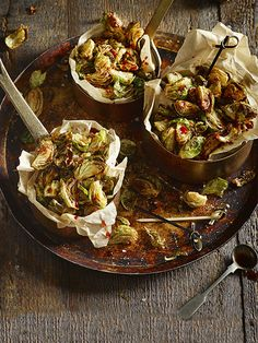 Deep-fried sprouts - This simple recipe for deep-fried sprouts with a sweet and savoury dressing makes a great snack or side - a delicious way to get this festive tradition in this Christmas