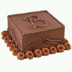 Monogrammed cake-classy